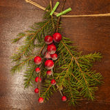 Sörja filialer med julbär Arkivfoto