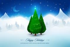 Sörja julgranar i snow Royaltyfri Bild