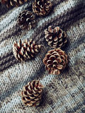 Sörja kottar på ett woolen tyg arkivbild