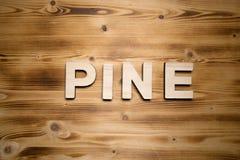 SÖRJA ordet som göras med byggnadskvarter på träbräde arkivbild