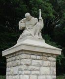 Sörja soldatmonumentet i St Mihiel German Military Cemetery i Frankrike Royaltyfria Foton