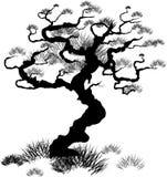 sörja treen royaltyfri illustrationer