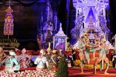 Sörjande ceremoni för Chedi Luang tempelpatriark Royaltyfria Foton