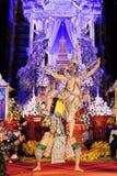 Sörjande ceremoni för Chedi Luang tempelpatriark Arkivbilder