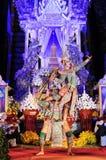 Sörjande ceremoni för Chedi Luang tempelpatriark Arkivbild