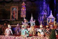 Sörjande ceremoni för Chedi Luang tempelpatriark Royaltyfri Fotografi