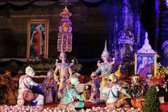 Sörjande ceremoni för Chedi Luang tempelpatriark Royaltyfri Foto