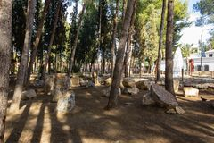 Sörjer i staden parkerar Andalusia fotografering för bildbyråer