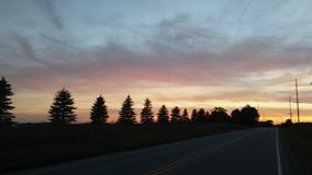 sörjer solnedgång fotografering för bildbyråer