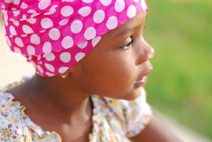 söt afrikansk flicka Arkivbilder