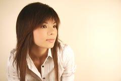 söt asiatisk flicka Fotografering för Bildbyråer
