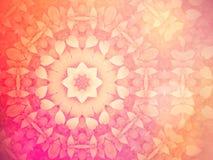 Söt bakgrund för abstrakt valentin, kalejdoskopeffekt Royaltyfri Fotografi