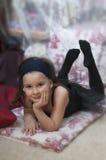 söt ballerinaflicka Royaltyfria Bilder