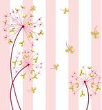 Söt blomma med bakgrund Fotografering för Bildbyråer