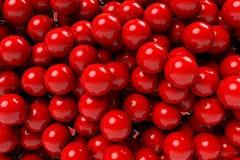 Söt boll för röd bollbakgrund Arkivfoto