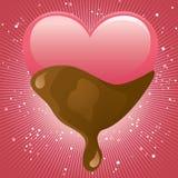 söt choklad royaltyfri illustrationer