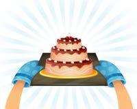 Söt chokladtårta Royaltyfri Bild