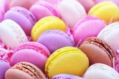 Söt confection för färgrika macarons royaltyfria foton