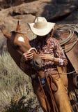 söt cowgirl royaltyfri bild
