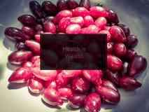 söt cranberry arkivfoton