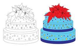 söt födelsedagcake royaltyfri illustrationer