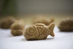 Söt fisk formad pannkaka Fotografering för Bildbyråer