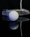 Söt fläck för golfputter arkivfoto