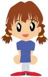söt flickaskola Royaltyfri Fotografi