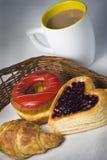 söt frukost Arkivbilder