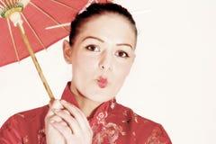 söt geisha royaltyfri fotografi