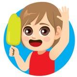 Söt glassisglass för pojke royaltyfri illustrationer