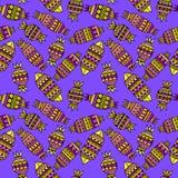 Söt godisuppsättning Sömlös modell för färgrik vektor Arkivbilder