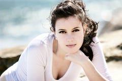 söt härlig flicka Fotografering för Bildbyråer