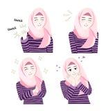 Söt Hijab flicka Arkivfoto