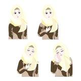 Söt Hijab flicka 2 Arkivbild