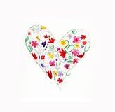 söt hjärta stock illustrationer