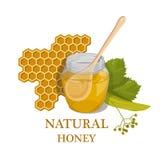 Söt honung 100% naturlig honung Arkivbild