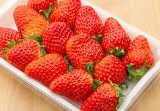 Söt jordgubbetextur Arkivfoton