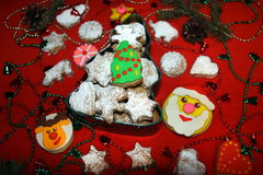 söt julgåva Fotografering för Bildbyråer