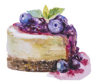 Söt kaka för vattenfärg stock illustrationer