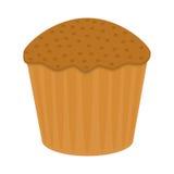 Söt kaka i plan stil Royaltyfri Fotografi