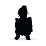 Söt konturläsebok för barn i svart färgillustration royaltyfri illustrationer