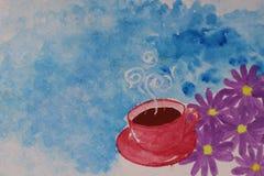 söt kopp för giffel för bakgrundsavbrottskaffe Royaltyfri Foto