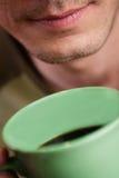 söt kopp för giffel för bakgrundsavbrottskaffe Arkivbilder