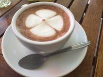 söt kopp för giffel för bakgrundsavbrottskaffe Arkivfoto