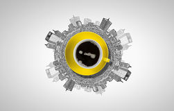 söt kopp för giffel för bakgrundsavbrottskaffe royaltyfri illustrationer