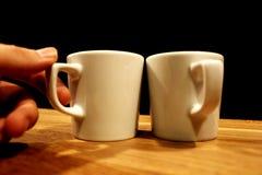 söt kopp för giffel för bakgrundsavbrottskaffe Arkivfoton