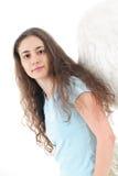 söt kvinna för ängel Royaltyfri Foto