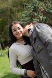 söt kyss Arkivbilder
