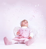 Söt liten ängel Fotografering för Bildbyråer